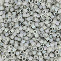 Grijs Miyuki Delica Opaque Light Smoke Blue AB 11/0 - 4 gram
