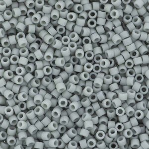 Grijs Miyuki Delica Matte Opaque Glaze Cadet Grey 11/0 - 4 gram