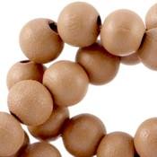 Bruin Houten kralen rond Cinnamon brown 6mm - 50 stuks