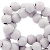 Grijs Houten kralen rond Birch grey 6mm - 50 stuks