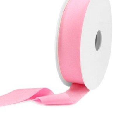 Roze Elastisch Ibiza lint Light pink 25mm - 1 meter
