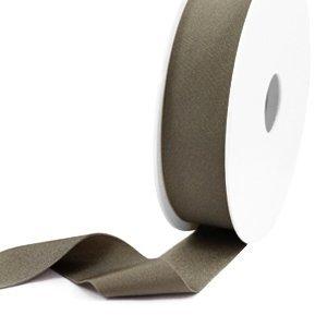Bruin Elastisch Ibiza lint Metallic dark taupe 25mm - 1 meter