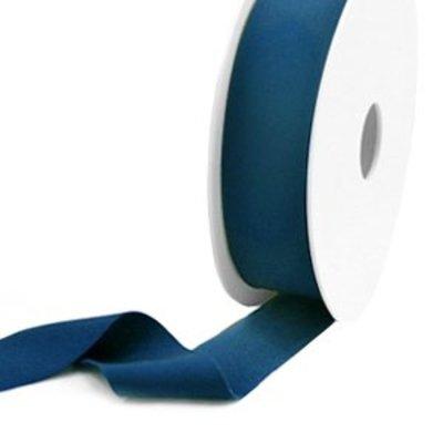 Blauw Elastisch Ibiza lint Teal blue 25mm - 1 meter