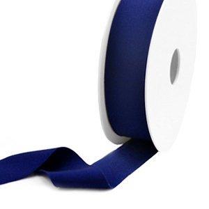 Blauw Elastisch Ibiza lint Dark blue 25mm - 1 meter
