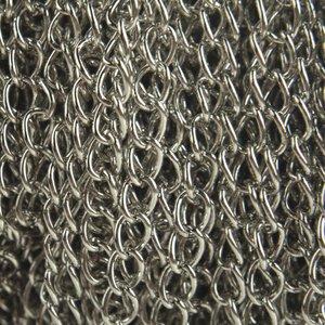 Zilver Platte twist schakelketting 6x3mm - per meter