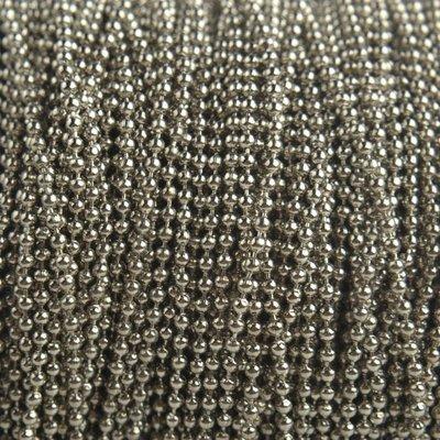Zilver Ballchain zilver 1,5mm - per meter