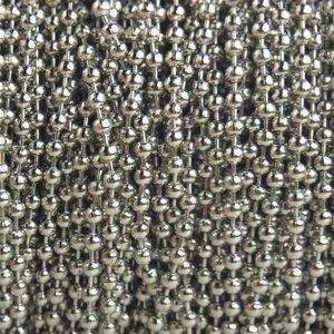 Zilver Ballchain zilver 2mm - per meter