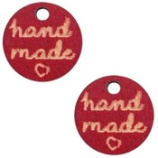 Rood Houten bedels 'handmade' Cherry red 12mm