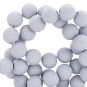Grijs Acryl kralen mat Light haze grey 8mm - 50 stuks