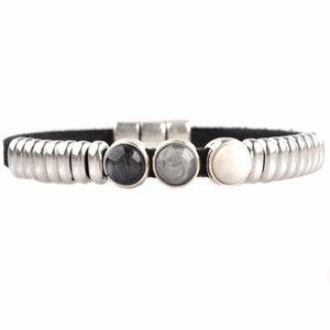 Zwart DIY armband polaris #3  Black & Grey