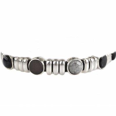 Zwart DIY armband polaris #2  Black & Grey