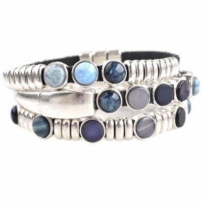 Blauw DIY set armbanden polaris 3 stuks  Dark blue