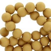 Bruin Acryl kralen mat Mustard brown 8mm - 50 stuks