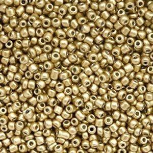 Bruin Rocailles glas Gold 12/0 (2mm) - 20 gram