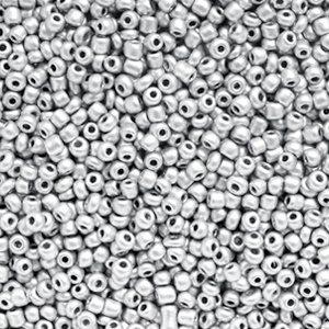 Grijs Rocailles glas Silver 12/0 (2mm) - 20 gram