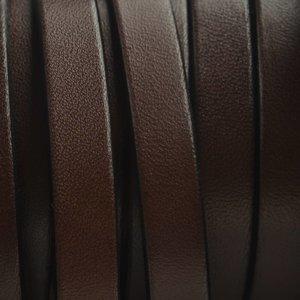 Bruin Plat Italian leer Donker bruin 10x2mm - prijs per cm