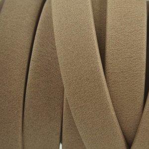 Bruin Plat soft nappa leer sand 10x2,5mm - prijs per cm