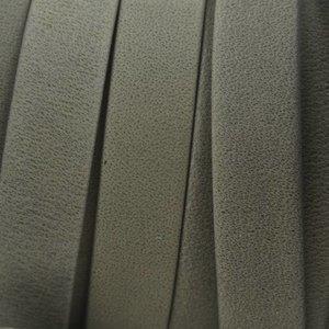 Grijs Plat soft nappa leer grey 10x2,5mm - prijs per cm