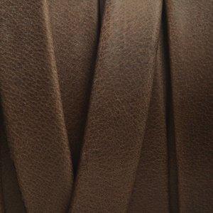 Bruin Plat soft nappa leer brown 10x2,5mm - prijs per cm
