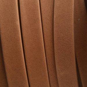 Bruin Plat soft nappa leer cognac 10x2,5mm - prijs per cm