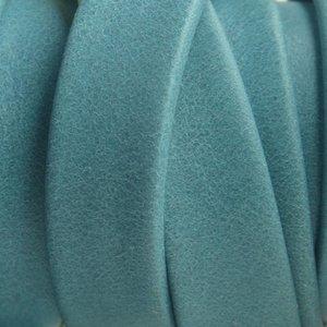 Blauw Plat soft nappa leer ice blue 10x2,5mm - prijs per cm