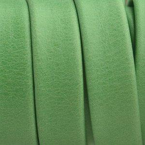 Groen Plat soft nappa leer green 10x2,5mm - prijs per cm