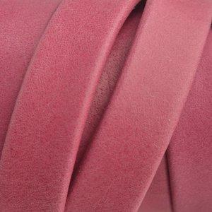 Roze Plat soft nappa leer fuchsia 10x2,5mm - prijs per cm