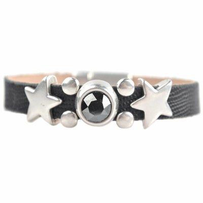 Zwart DIY 'Follow me to the stars' armband Black