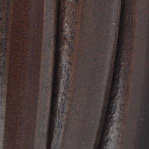 Bruin Ovaal leer 10x6mm bruin  - 20cm