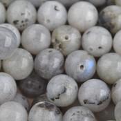 Grijs Edelsteen rond Labradoriet grijs 10mm