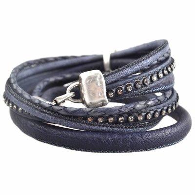 Bruin DIY dubbele Crystal Cognac bracelet