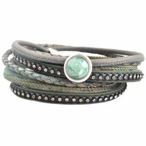 Groen DIY dubbele Crystal Jade green bracelet