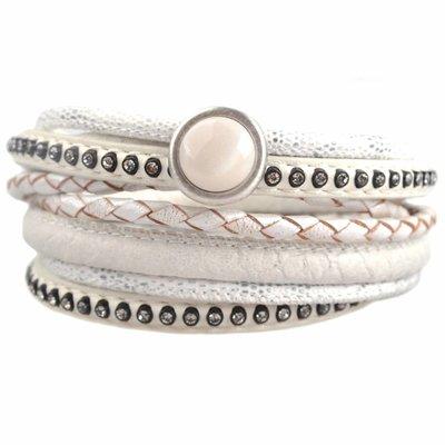 Wit DIY dubbele Crystal White bracelet