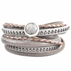Strass & Leer armbanden