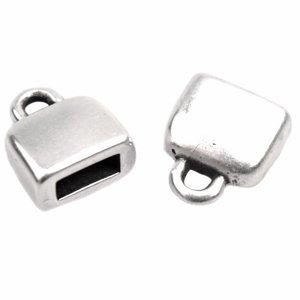 Zilver Eindkap glad 5x2mm Zilver DQ