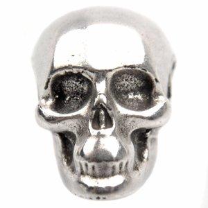 Zilver Kraal skull Ø3mm Zilver DQ 13x10mm