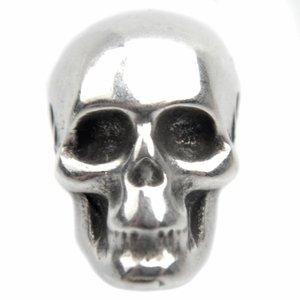 Zilver Kraal skull Ø1,5mm Zilver DQ 9x7,5mm