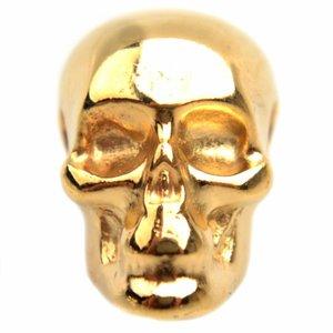 Goud Kraal skull Ø3mm Goud DQ 13x10mm