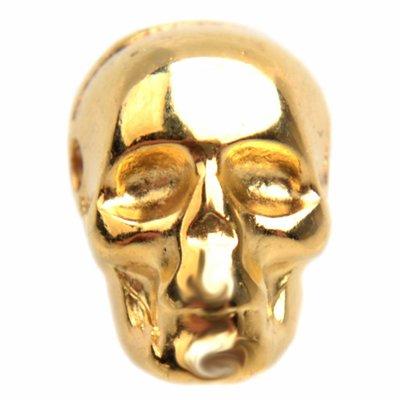 Goud Kraal skull Ø1,5mm Goud DQ 9x7,5mm