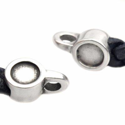 Zilver Eindkap met setting voor ss20 swarovski 5x2mm Zilver DQ