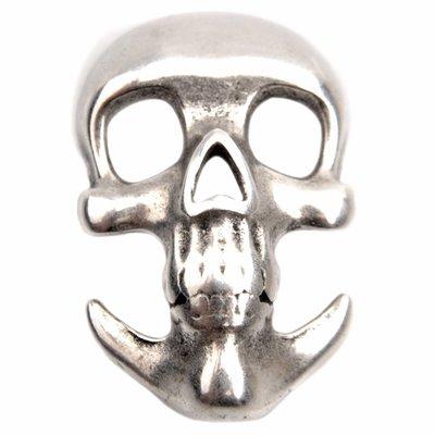 Zilver Haaksluiting  skull Ø3mm Zilver DQ 31x19mm