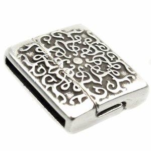 Zilver Magneetsluiting swirl design Ø20x2mm Zilver DQ 22x19mm