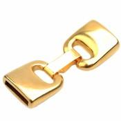 Goud Clip sluiting  Ø13x2,5mm Goud DQ 46x17mm