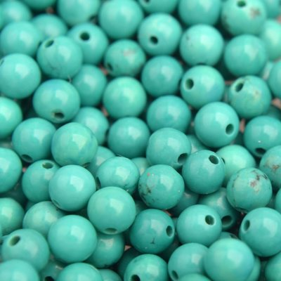 Turquoise Edelsteen kraal Sinkiang turquoise rond 4mm - 10 stuks