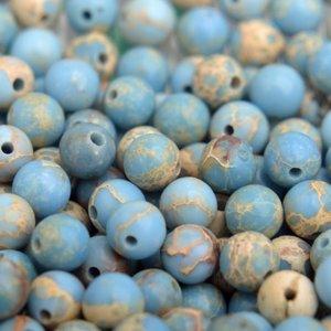 Blauw Edelsteen kraal blauw Regaliet rond 4mm - 10 stuks