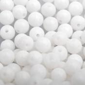 Wit Edelsteen kraal witte Jade rond 4mm - 10 stuks