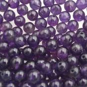 Paars Edelsteen kraal Amethyst rond 4mm - 10 stuks