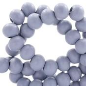 Paars Houten kralen rond Cosmic sky lavender 8mm - 50 stuks