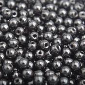 Grijs Edelsteen kraal Hematiet antraciet rond 4mm - 45 stuks