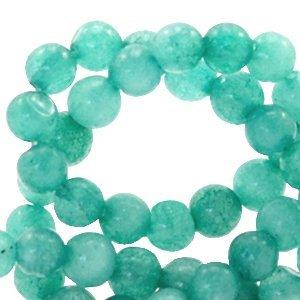 Turquoise Natuursteen kraal Turquoise green rond 4mm - 10 stuks